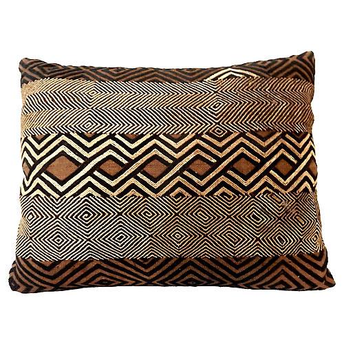 African Kuba Raffia Pillow