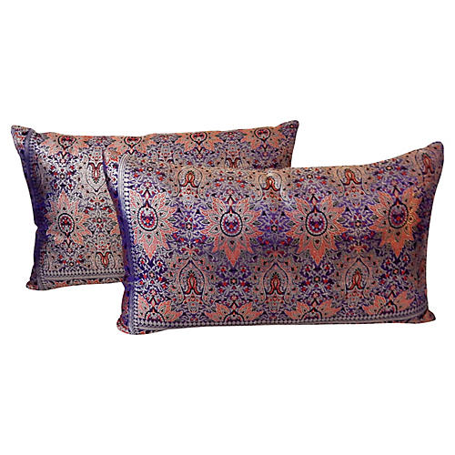 Lumbar Thai Silk Pillows, S/2