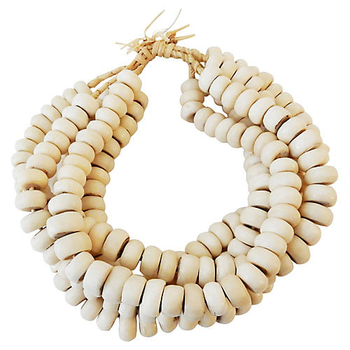 Currency Bone Trade Beads, S/5