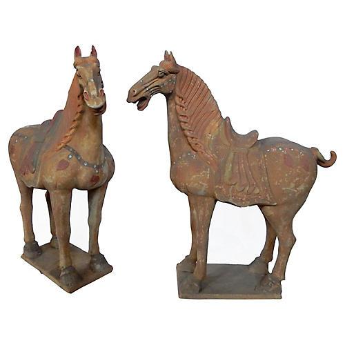 Chinese War Horses, Pair