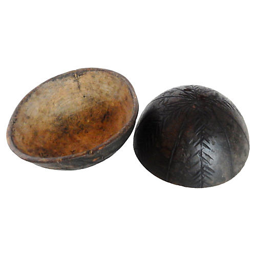 Igbo Ceremonial Wood Bowls, Pair