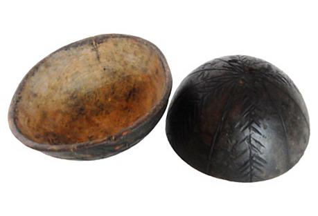 Igbo Ceremonial Wood Bowls, Pair