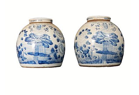 Blue & White Ginger Jars, Pr