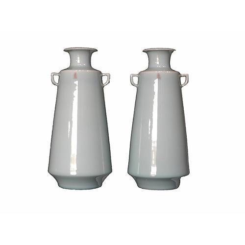 Pair of Celadon Vases