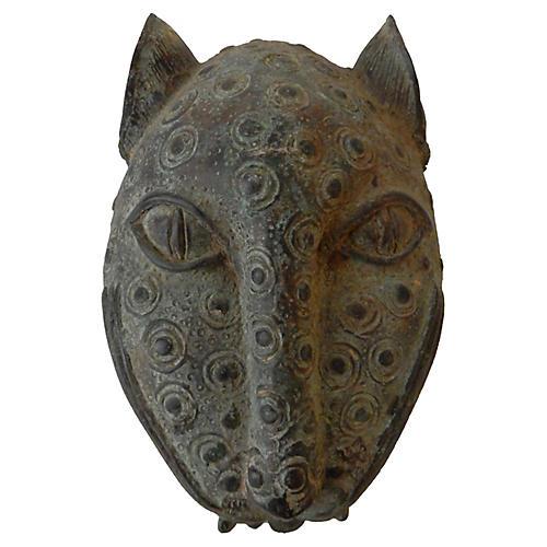 Bronze Leopard Head Benin