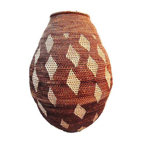 Vintage Botswana Basket