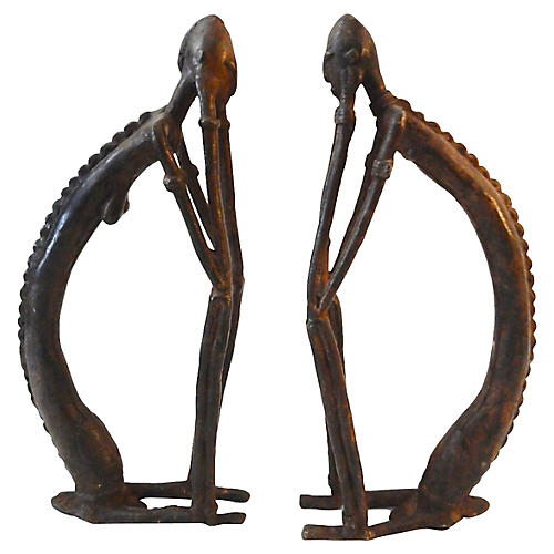 1970s Dogon Bronze Sculptures, S/2