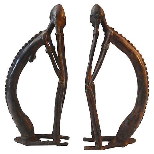 1970s Dogon Bronze Sculptures, S/2