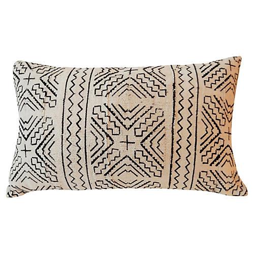 Custom Made Lumbar Mud Cloth Pillow