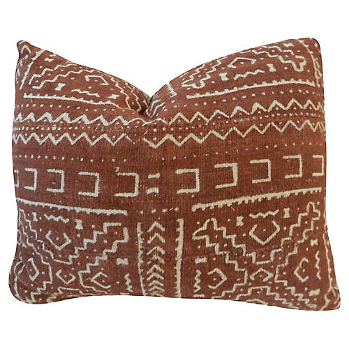Chocolate & White Mud Cloth Pillow