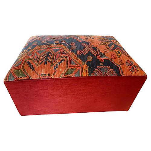 Custom Soumak Ottoman