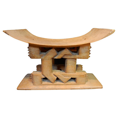 Ashanti Carved Wood Stool