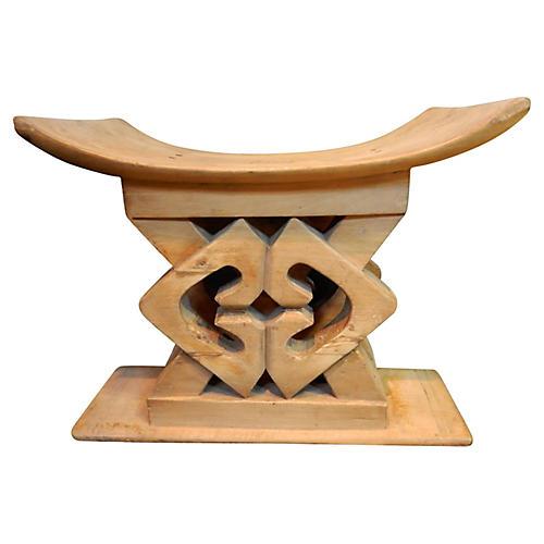 Ashanti Carved Wood Stool