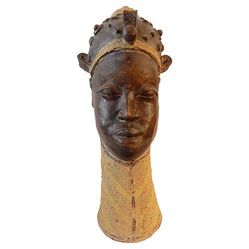 Ashanti Queen Ife Clay Bust