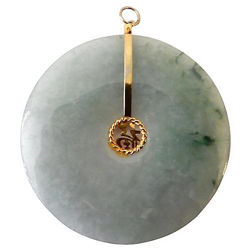 Jade Bi Disc Pendant