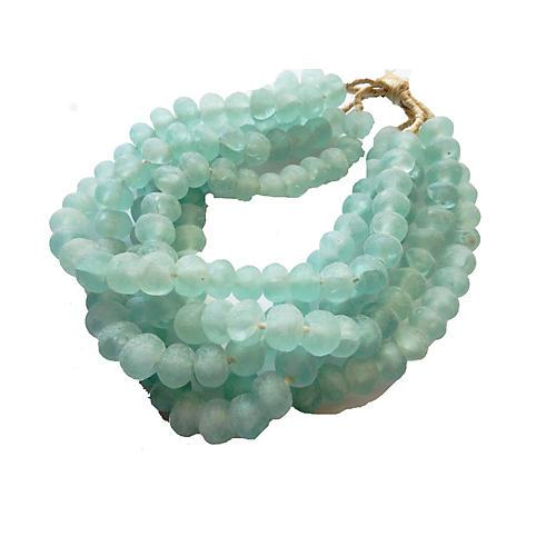 Jumbo Glass Trade Bead Strands, S/5