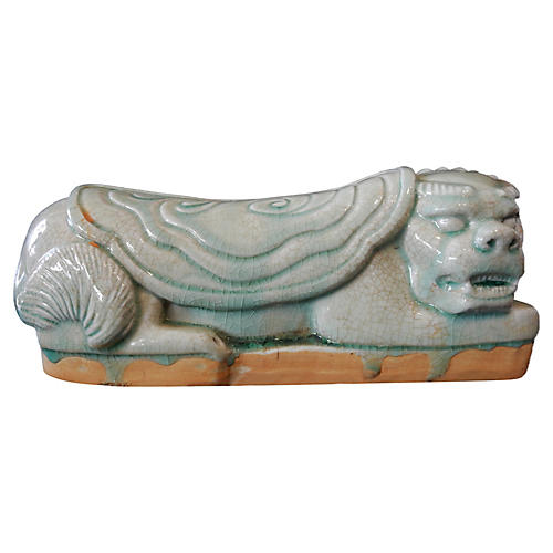 Celadon Foo / Fortune Dog Headrest