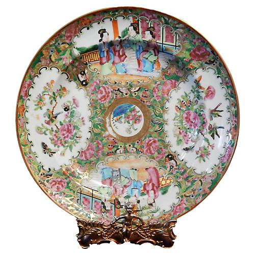 Chinese Export Rose medallion Soup Plate