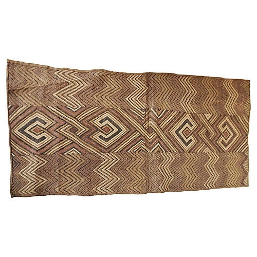 Kuba Kasai Velvet Raffia Textile