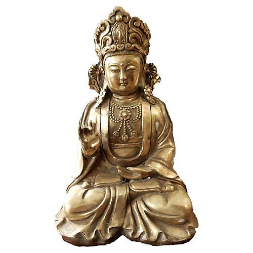 Ornate Bronze Buddha