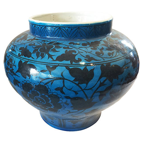 LG Yuan Dynasty-Style Turquoise Vase