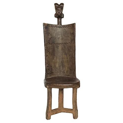 African 3-Leg Makonde Chair