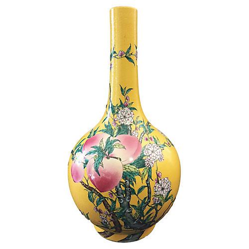 Famille Jaune Onion Vase