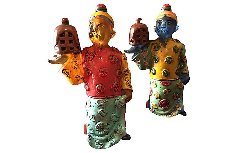 Peking Glass Snuff Bottles, S/2