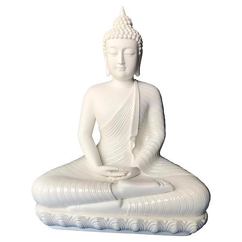 Blanc de Chine Meditating Buddha