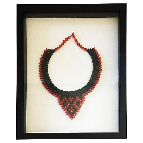 Indigenous Ceremonial Necklace Framed