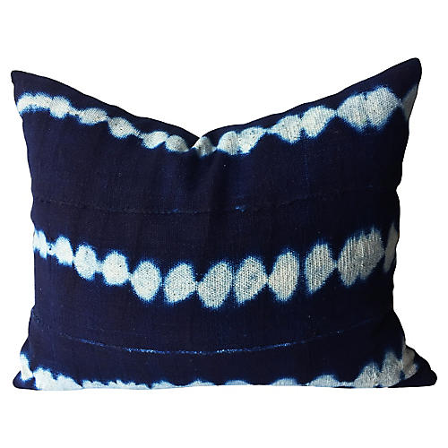 African Indigo Cloth Pillow