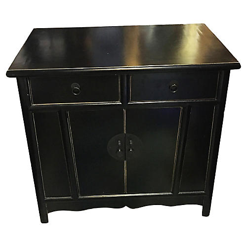 Superb Beijing Asian Black Lacquer Chest