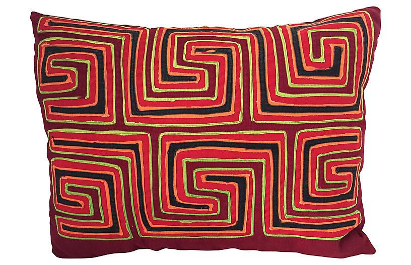 Mola Textile Lumbar Pillow