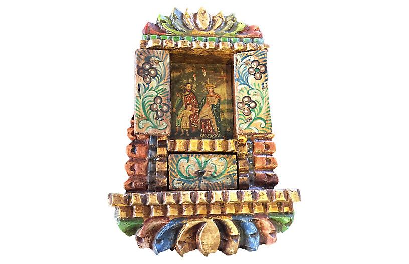 Spanish Colonial Cedar Icon