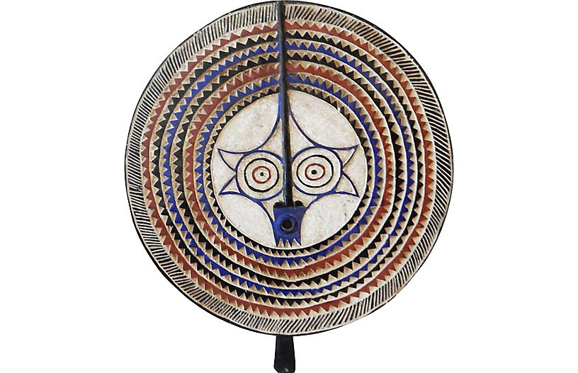 LG Baule Tribe Moon Mask Côte d'Ivoire.