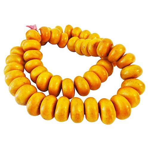 Nigerian Amber Currency Trade Beads