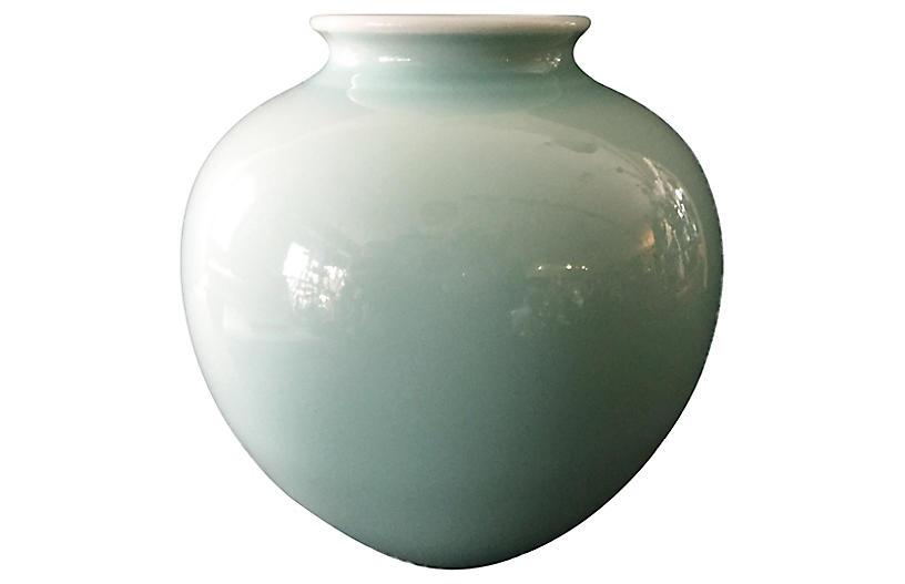 Celadon Moon Vase