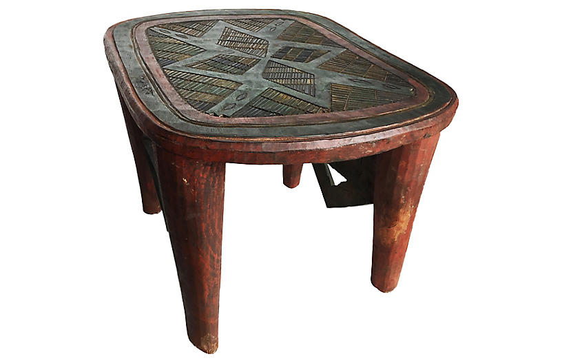 LG Colorful Nupe Stool/Table Nigeria