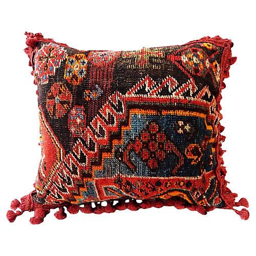 19th-C. Qashqai Pillow