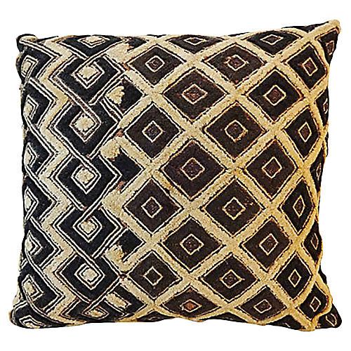 African Velvet Kuba Kasai Pillow
