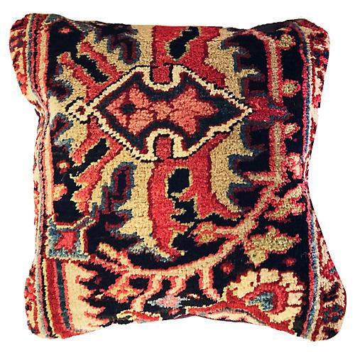 Antique Heriz Fragment Pillow