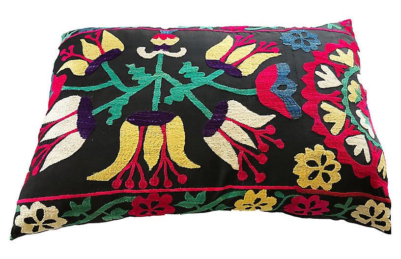 Uzbek Suzani Lumbar Pillow