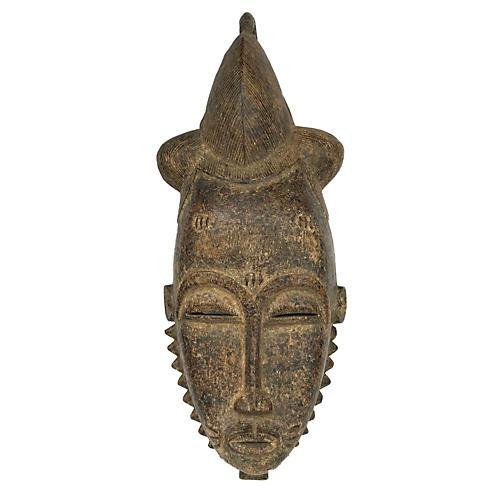Tribal Baule Mask Cote D'ivoire