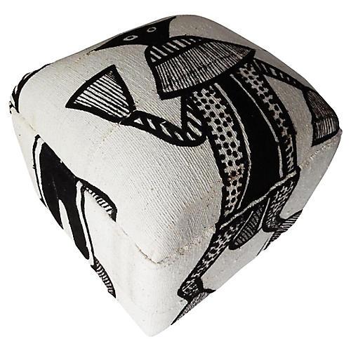 Senufo Korhogo textile ottoman I Coast