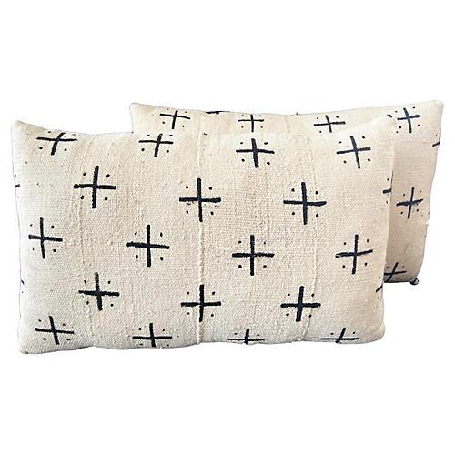Custom Made Lumbar Mud Cloth Pillows