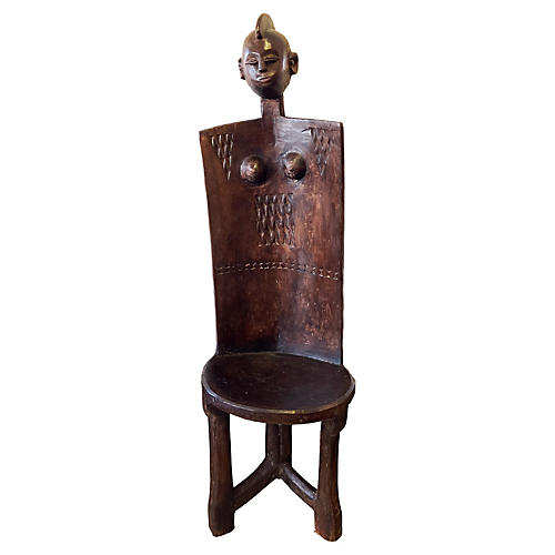 3-Legged Tanzanian Makonde Chair