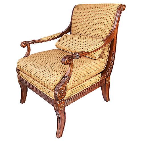 "Elegant Ethan Allen Regency ""Roma"" Chair"