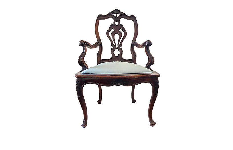19th-C. Venetian Armchair