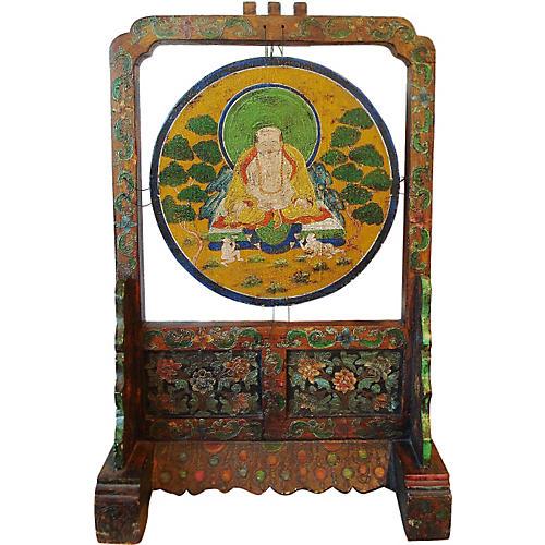 Tibetan Stand w/ Buddha