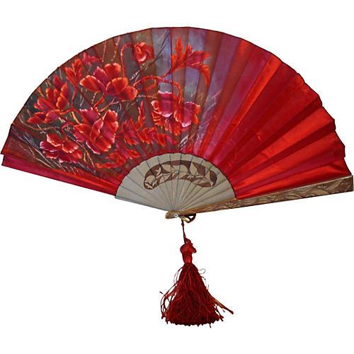 European Silk & Wood Fan, 1920